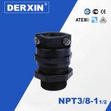 NPT1¼ Glándula de cable extensible de la resistencia del nivel impermeable de la protección IP68