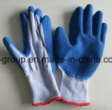 Gants de travail bleu avec latex enduits de protection
