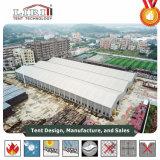 Sqm industrielles Speicher-Lager-Zelt 1000-2000 mit einer Rollen-Blendenverschluss-Tür