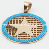 Migliore pendente della moneta dell'acciaio inossidabile della stella di disegno con il cristallo