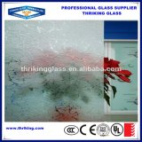 Aangemaakt Gekleurd Berijpt Zuur Geëtstd Glas