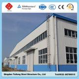 Almacén prefabricado del marco de la estructura de acero del alquiler de Qingdao con el panel de emparedado