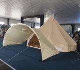 Tenda di Bell di campeggio del Tipi del cotone della famiglia di lusso esterna della tela di canapa