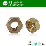 RoHSの黄銅/合金の銅の六角形/六角形のナットDIN934