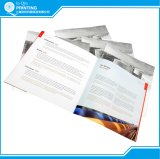Impresión de folleto con puntada de sillín con impresión en plata