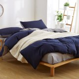 安いMicrofiberのモモファブリック平野によって印刷される寝具のベッド・カバー