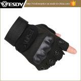 Перчатки воиска перчаток Esdy черного половинного перста напольные