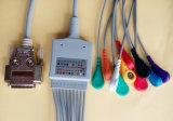 Siemens 15pin Aha Snap&Clip EKG/ECGケーブル