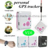 Premier mini traqueur personnel de vente de GPS avec le bouton de SOS (V16)