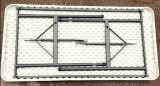 Дешевая портативная пластичная складывая таблица банкета прямоугольная