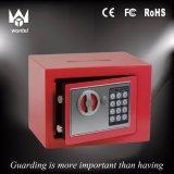 Caixa eletrônica do cofre forte do fechamento de Digitas da segurança da cor vermelha 17et