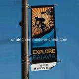 Вешалка промотирования знамени изображения средств Поляк уличного света металла рекламируя (BT91)