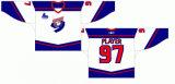 Customized Quebec Grandes Jr Liga de Hóquei de foguetes de Montreal 1999-2003 Home e hóquei no gelo Jersey