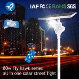 80W em um só produto LED solares Street a luz do sensor de movimento