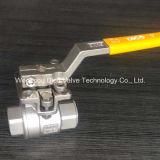 ISO5211 montaje de la válvula de bola 2PC Pad con rosca NPT