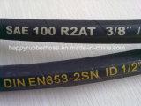DIN EN 853 2SN/ SAE 100R2con doble malla de alambre de acero reforzado la manguera hidráulica