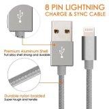 Cavo di carico estremamente extra-lungo intrecciato di nylon del cavo di dati del USB del lampo (perno 8)