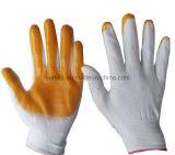 安全手のニトリルは13gaugeによって編まれた手袋に塗った