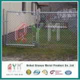 Calidad galvanizada y plástico o puertas revestidas de la cerca de la conexión de cadena del PVC