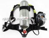 Herramienta de la protección del combatiente de fuego aparato con gran consumo de aire comprimido del tanque del carbón de 9 litros
