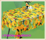 Fábrica Atacado PVC Printed Transparent Tablecloth in Roll