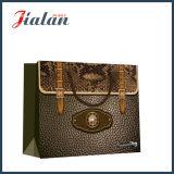 Modificar el bolso impreso papel del regalo para requisitos particulares del portador del estilo del bolso que hace compras de cuero