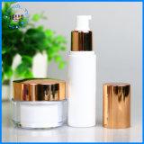 Gouden Plateren/de Zilveren Kosmetische Fles van de Room van de Fles