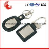 Metallo di cuoio su ordinazione Keychain di vendita di nuovo modo caldo di disegno con la casella