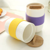 Anti-Slip termoresistente Silicone Holder/Cover per Glass Cup o Mug