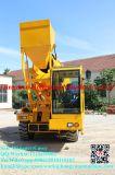 De zelf Vrachtwagen van de Concrete Mixer van de Lading Mobiele/de Concrete Mixer van de Vrachtwagen met Lader 3.5cbm