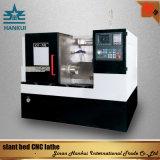 (Ck50L) CNC 가져오기 관제사를 가진 기우는 침대 선반 기계