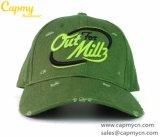 Fábrica lavada verde del sombrero del casquillo del deporte en China