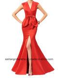 Долго Платье вечернее V-образный вырез крепежные втулки официальных Русалки производителей одежды