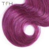 ブラジルのバージンの人間のOmberの毛の織り方1b/Purpleカラー毛ボディ波のRemyの毛の拡張2音色の毛(TFH18)