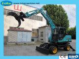 Pelle hydraulique de rotation de 8,5 tonne de bois Journal Grab Grab