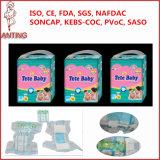 L'usine de la Chine vendable possèdent les couches-culottes jetables de bébé voulues par distributeur de marque