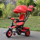 Venda por atacado do triciclo do bebê do triciclo de 3 miúdos das rodas do ar