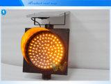 Предупредительный световой сигнал солнечного желтого мигателя строительной работы проблескивая