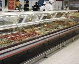 Servire di vetro curvo del frigorifero sopra i refrigeratori