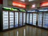Congelatore di vetro dritto del portello di temperatura insufficiente