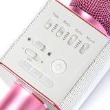 Heet verkoop Microfoon KTV Q9 van de Karaoke van Portble Stero Bluetooth de Draadloze