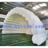 Tente gonflable en forme de coquille, Tente gonflable en PVC blanc de haute qualité