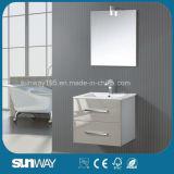 Ванная комната шкафа ящика высокого лоска белая Wicker с зеркалом