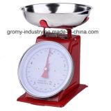 Báscula de cocina mecánica Dial de la primavera de la escala de alimentos con el recipiente