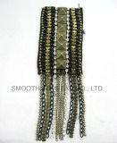 卸し売り方法型のビードのアップリケの肩パッチの金属の鎖のアクセサリ