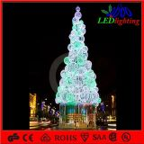 H: 5m Outdoor Lighted Metal Christmas Ball Tree LED Street Lighting
