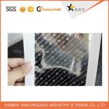 Подгонянный сильный отражательный большой стикер Hologram печатание ярлыка обеспеченностью листа