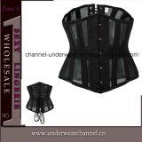 As mulheres Sexy Bodysuit de couro com saia espartilho Lingerie (TA9192)