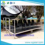 3 portées extérieures de gradins au soleil de rangée avec la planche imperméable à l'eau de contre-plaqué