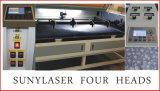 Le teste della taglierina 80W quattro del laser rivestono di pelle il macchinario del laser della tagliatrice